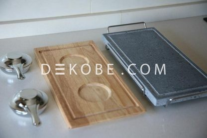 cooking stone 37x19x2 2 burners r1a047 luxe 2