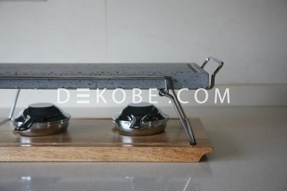 cooking stone 37x19x2 2 burners r1a047 luxe 6